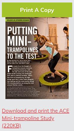 ACE print mini trampoline study