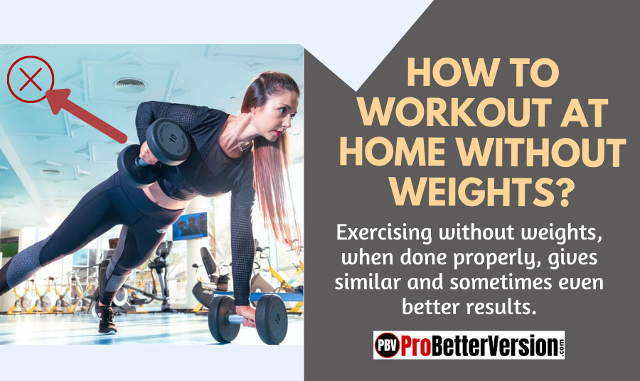 How to Workout at Home Without Weights