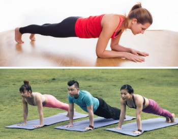 EXERCISE FOR FLABBY ARMS - Planks