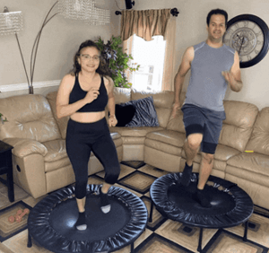Rebounding exercise at home